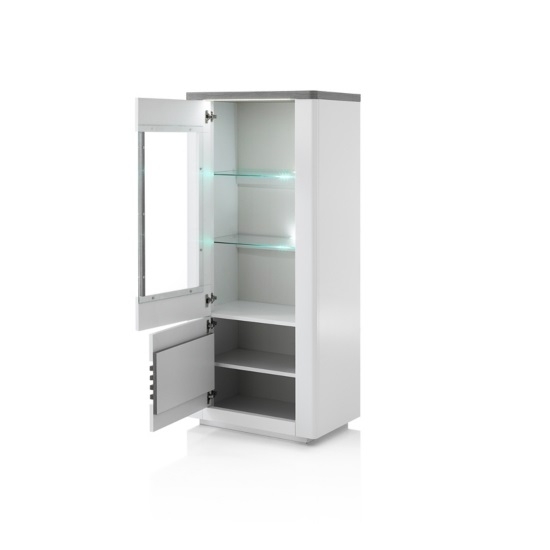 Pinellas Display Cabinet In Grey Oak And White Lacquered_3