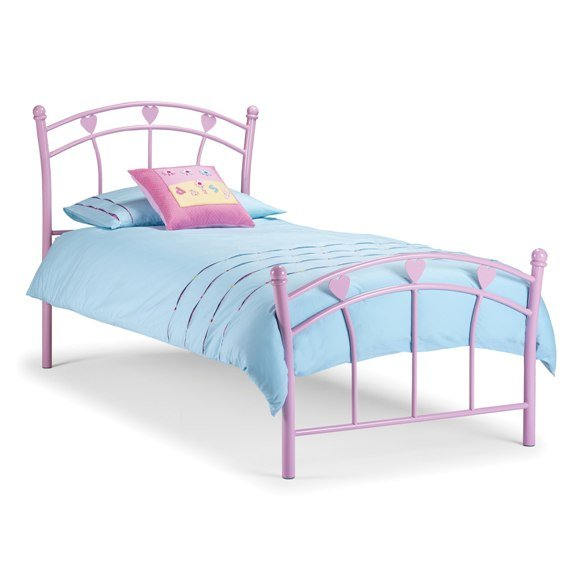 pink metal kids bed - Tips On Choosing Bedroom Furniture For Girls