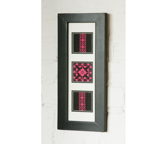 pink modern flock picture frame - Great Interior Design Ideas For Picture Frames