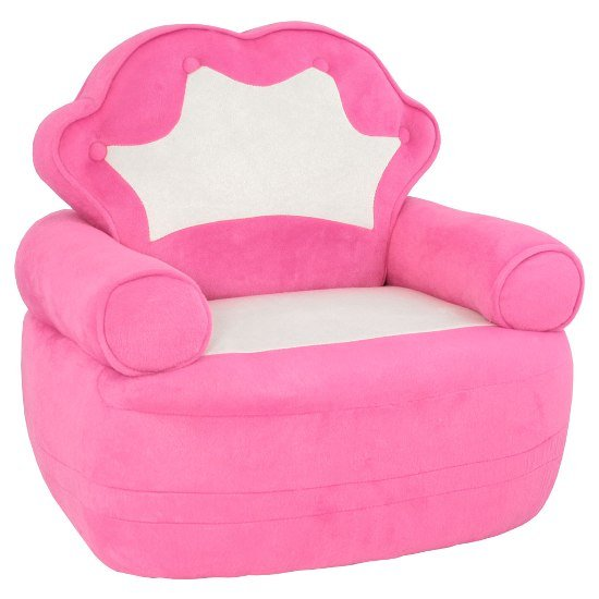 pink white childrens chair fu121 - How to Choose Children's Novelty Chairs