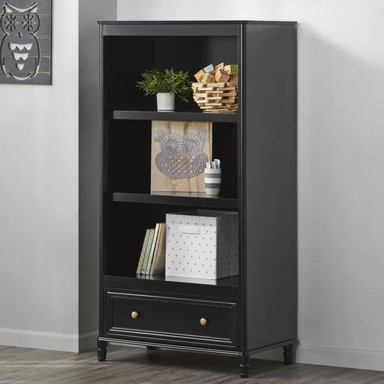 View Plaistow wooden bookcase in black