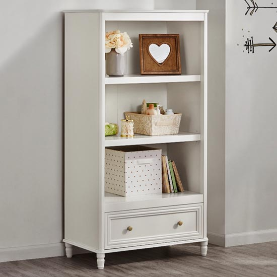 Plaistow Wooden Bookcase In Cream