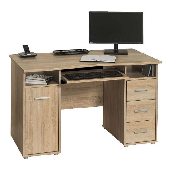 Piper Wooden Computer Desk In Sonoma Oak Finish