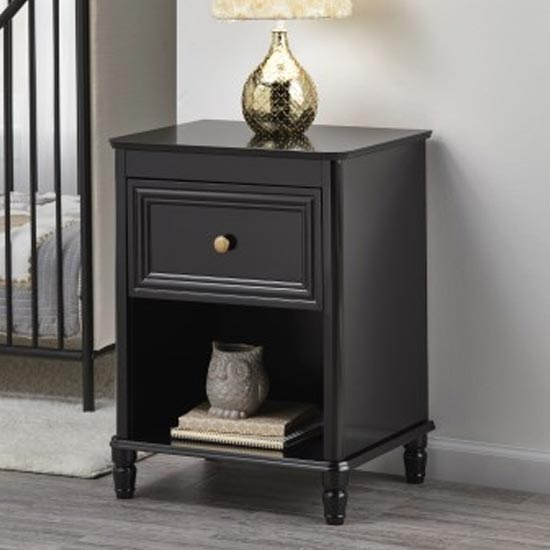 Plaistow Wooden End Table In Black