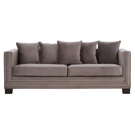 Pipirima 3 Seater Velvet Sofa In Brown