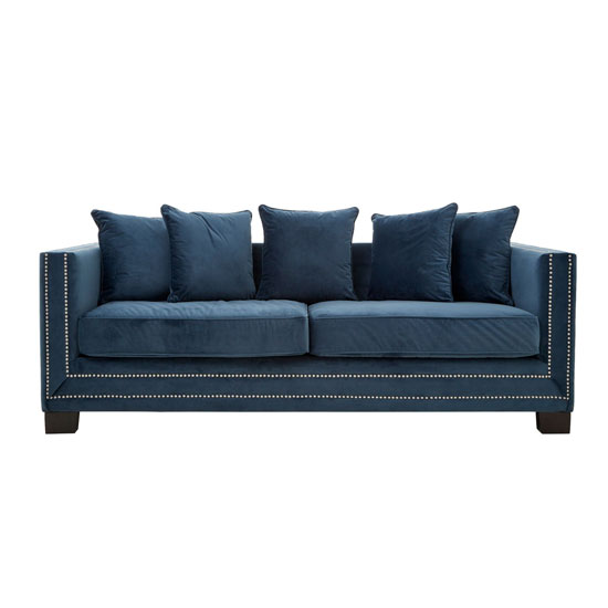 Pipirima 3 Seater Velvet Sofa In Midnight_1