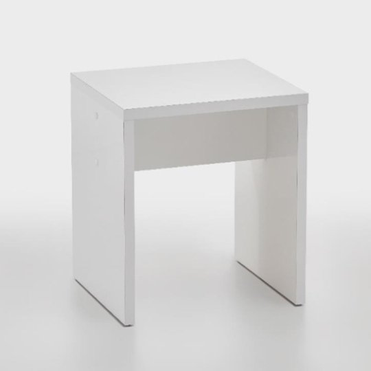 Pisces Dressing Table Stool In Glossy White