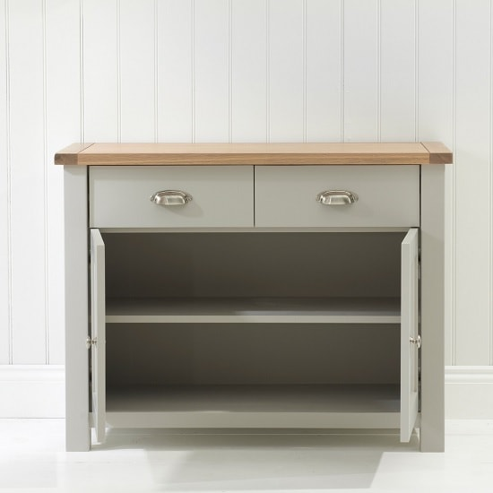 Platina Wooden Sideboard In Grey And Oak With 2 Doors_2