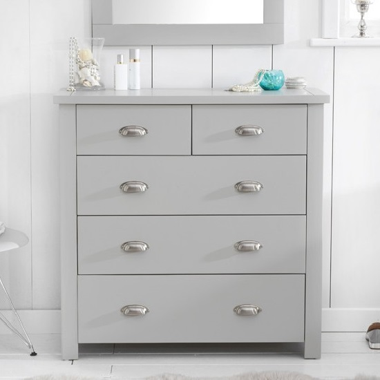 Sandringhia Wooden Chest Of Drawers In Grey With 5 Drawers_2