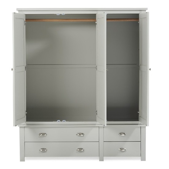 Platina Large Wardrobe In Grey With 3 Doors And 4 Drawers_4