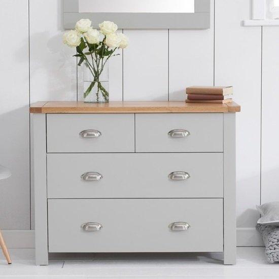 small bedroom chest of drawers platina small chest of drawers in grey and oak with 4 19744