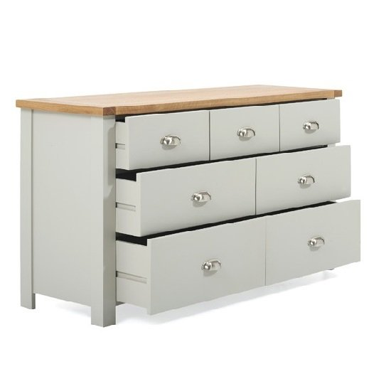 Platina Wide Chest Of Drawers In Grey And Oak With 7 Drawers_3