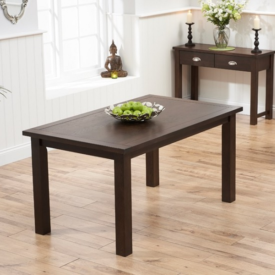Platina Wooden Dining Table Rectangular In Dark Oak 150cm