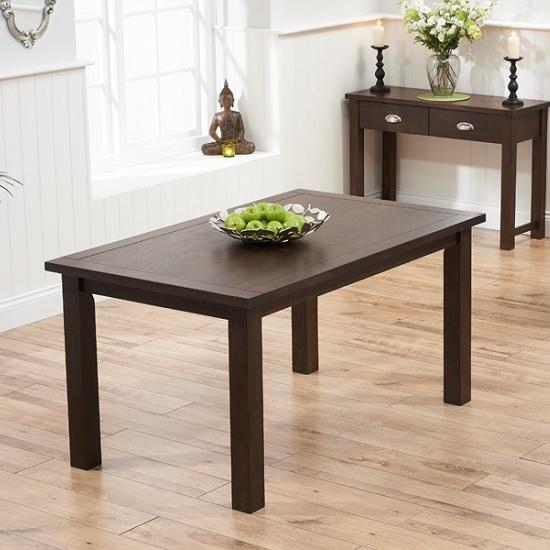 dining tables platina wooden dining table rectangular in dark oak