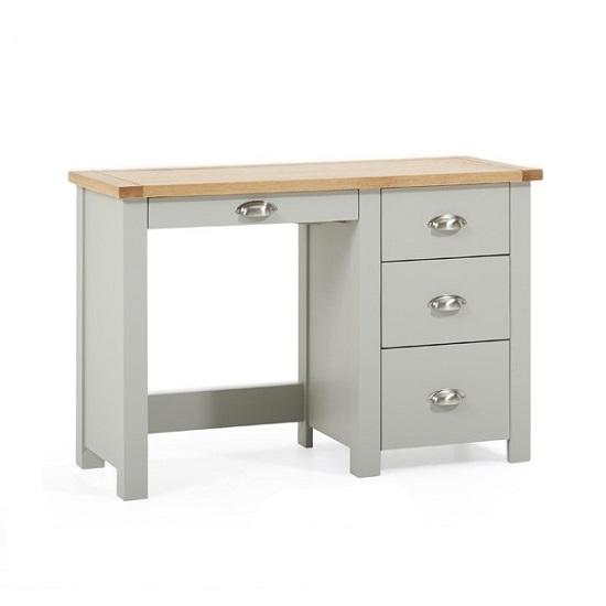 ... Dressing Tables Platina Wooden Single Pedestal Dressing Table In Oak