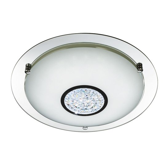 Pleades 36 LED Flush Ceiling Light With Glass Shade