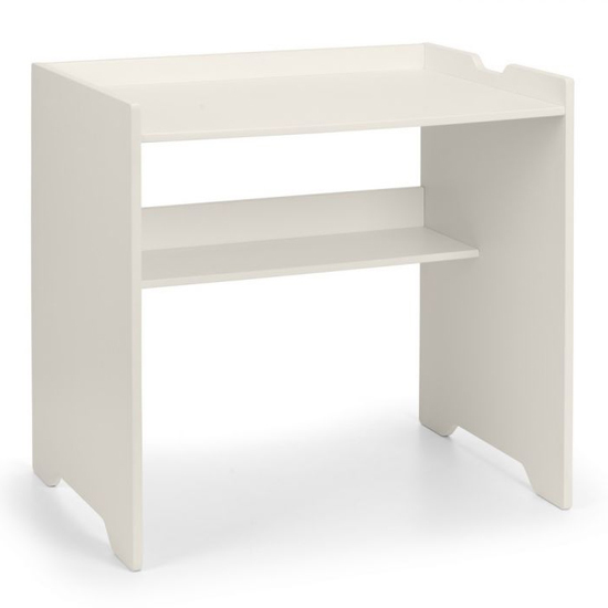 Pluto Bunk Bed With Bookcase And Study Desk In Stone White_4