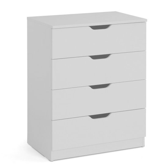 Pluto Chest Of Drawers In Dove Grey With 4 Drawers