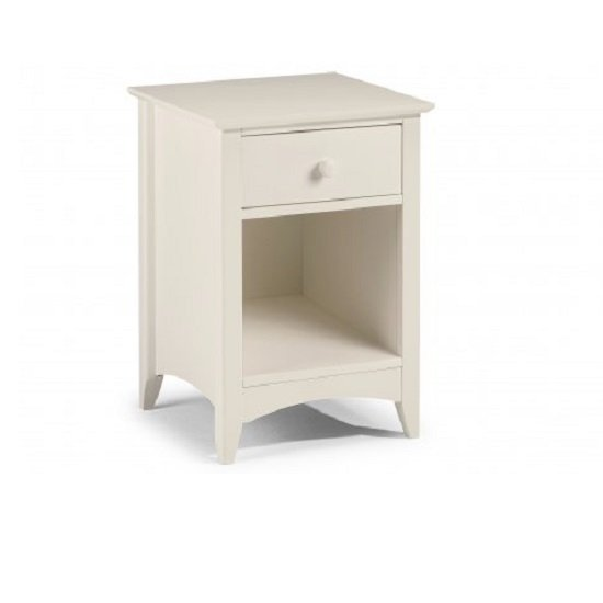 Polar Bedside Cabinet In Stone White With 1 Drawer