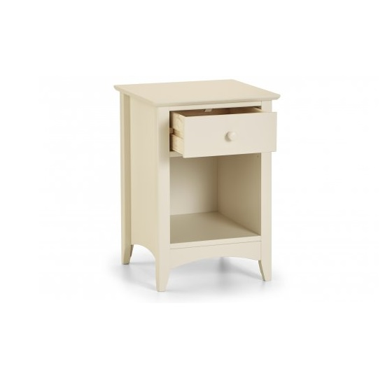 Polar Bedside Cabinet In Stone White With 1 Drawer_2