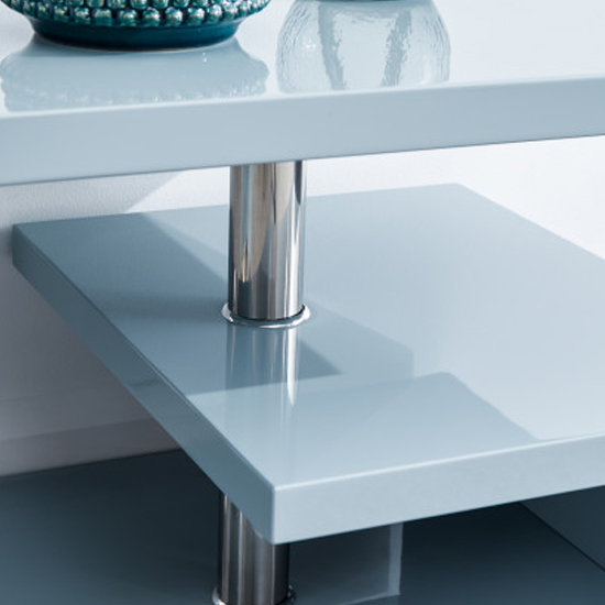 Point Coffee Table In Grey High Gloss With LED Lighting_5