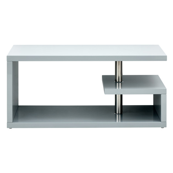 Point Coffee Table In Grey High Gloss With LED Lighting_7