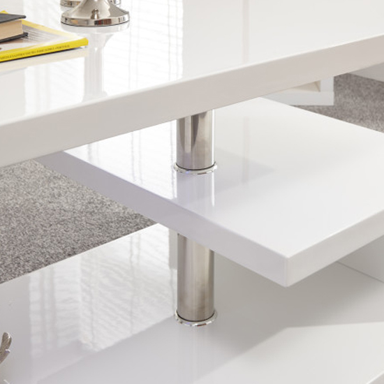 Point Coffee Table In White High Gloss With LED Lighting_4