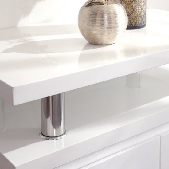 Point High Gloss LED Sideboard In White_3