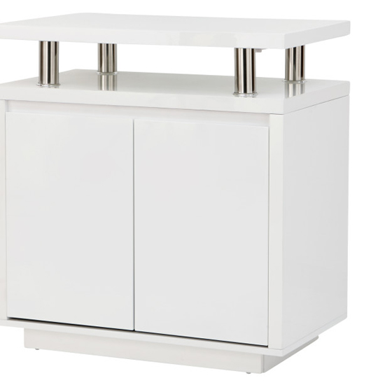 Point High Gloss LED Sideboard In White_4