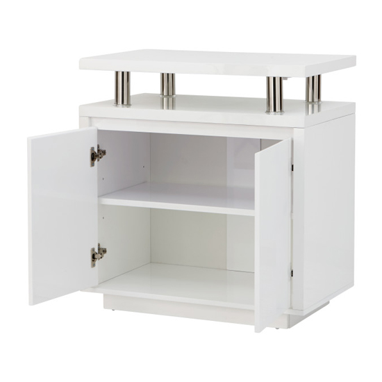 Point High Gloss LED Sideboard In White_5