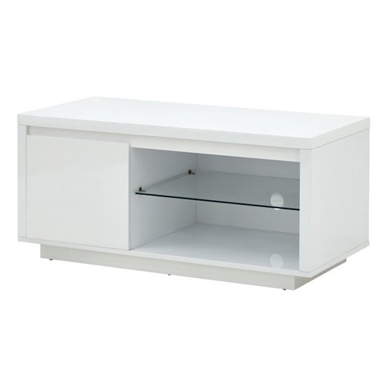 Point TV Stand In White High Gloss With LED Lighting_4