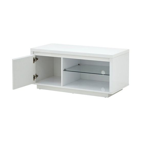 Point TV Stand In White High Gloss With LED Lighting_5