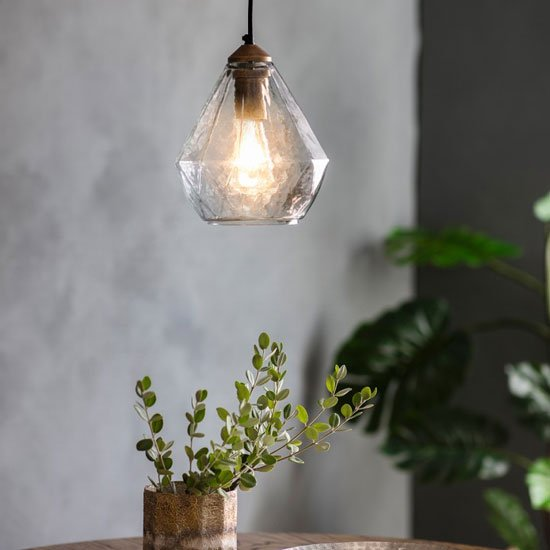 Pollina Wall Hung Pendant Light In Frosted