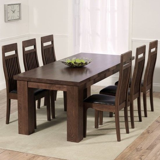 Pollux Dark Brown Dining Chairs In Pair_2