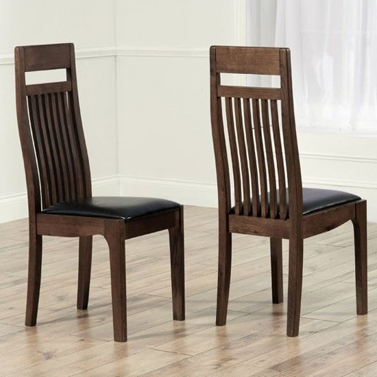 Pollux Dark Brown Dining Chairs In Pair_1