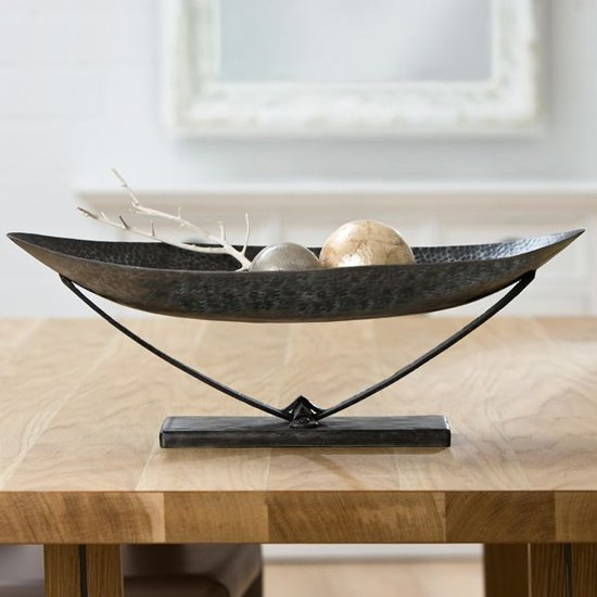 Pomona Iron Oval Decorative Bowl In Antique Black
