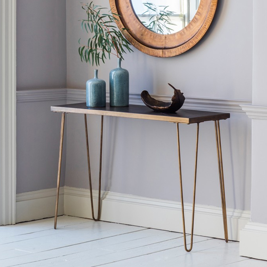 Pompeii Console Table In Bronze With