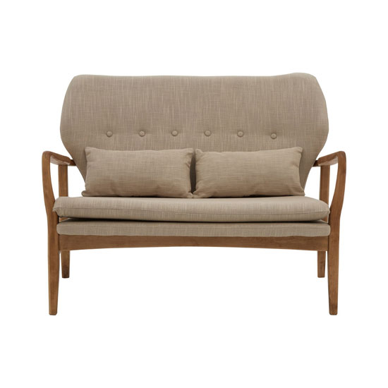 Porrima 2 Seater Sofa In Beige With Natural Wood Frame_1