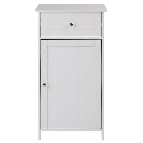 View Matar 1 drawer 1 door storage cabinet in white