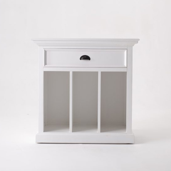 Porth Wooden Bedside Table With Dividers In Classic White_1