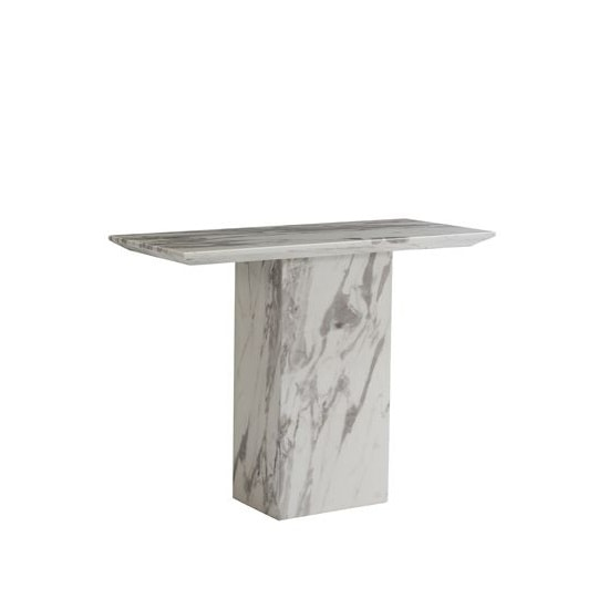 Portia Marble Console Table Rectangular In White Carerra