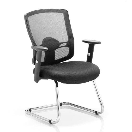 Portland Black Back Visitor Chair With Black Seat