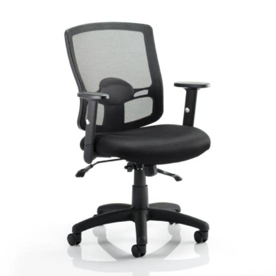 Portland II Black Back Office Chair With Black Seat