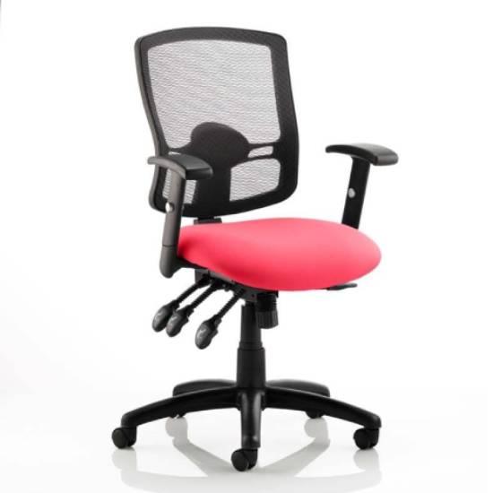 View Portland iii black back office chair with bergamot cherry seat