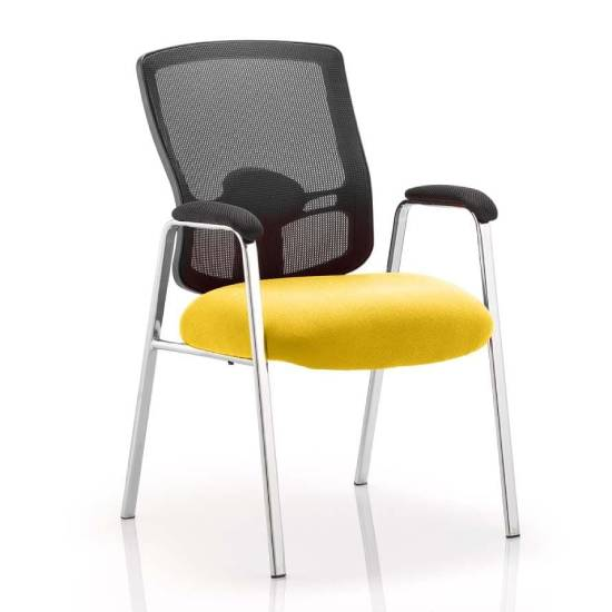 Portland Straight Leg Visitor Chair With Senna Yellow Seat