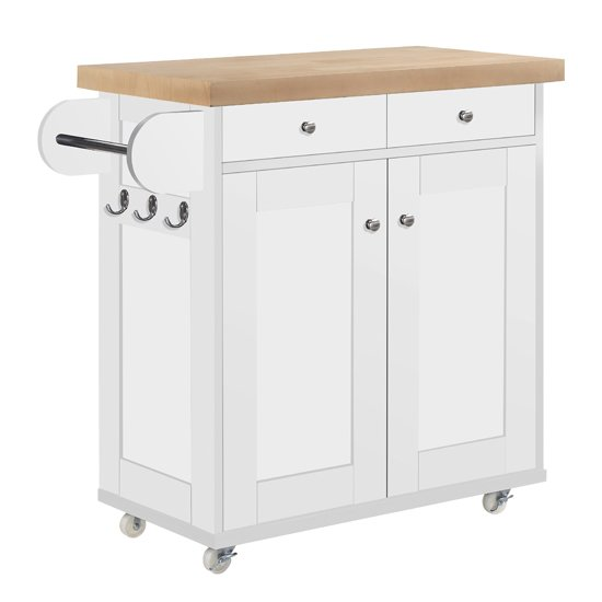 Portland Wooden Kitchen Storage Cabinet In White