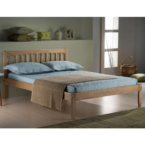Porto Wooden Single Bed In Waxed Pine