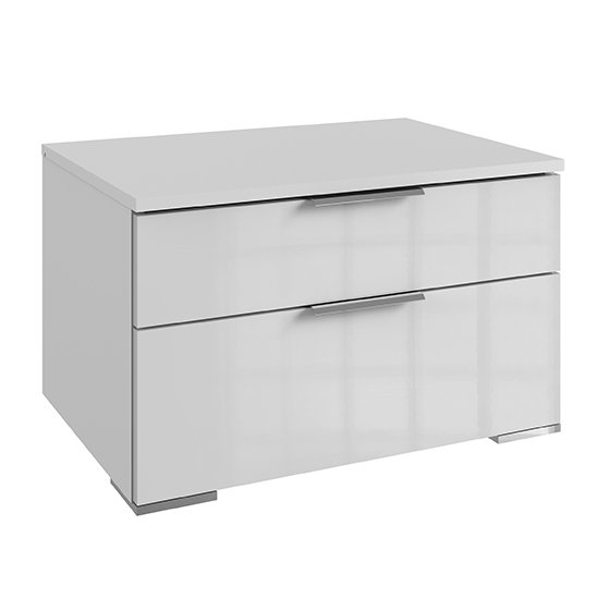 Posterior Wide Chest Of Drawers In White Gloss With 2 Drawers_1