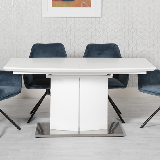 Prado Extending Dining Table In White High Gloss
