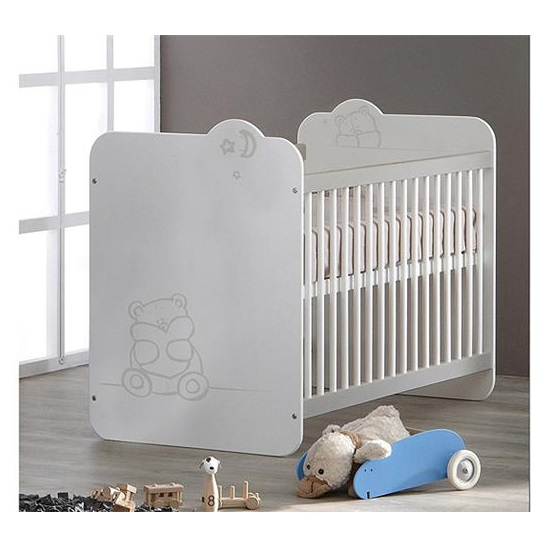 Read more about Prague wooden childrens bed in white with bars